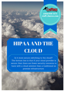 HIPAA AND THE CLOUD (1)